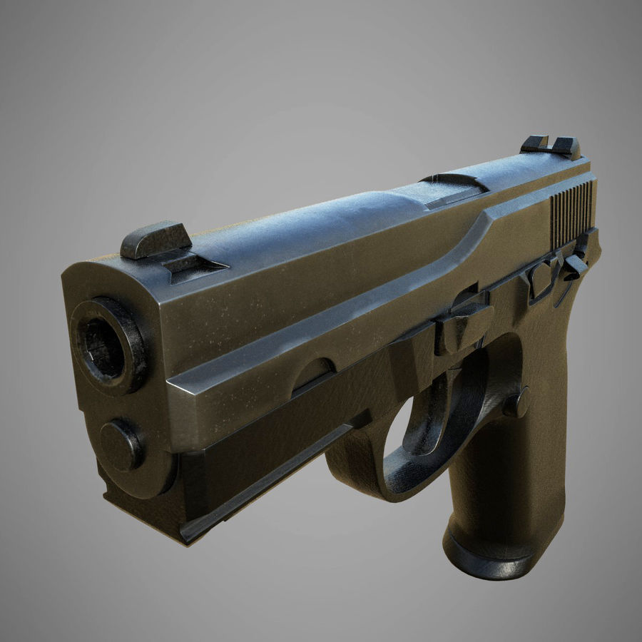 FN FNP9 royalty-free 3d model - Preview no. 3