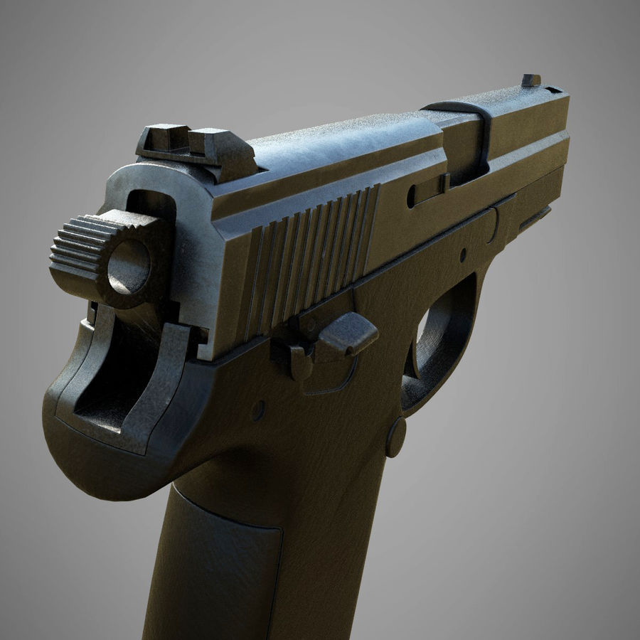 FN FNP9 royalty-free 3d model - Preview no. 5