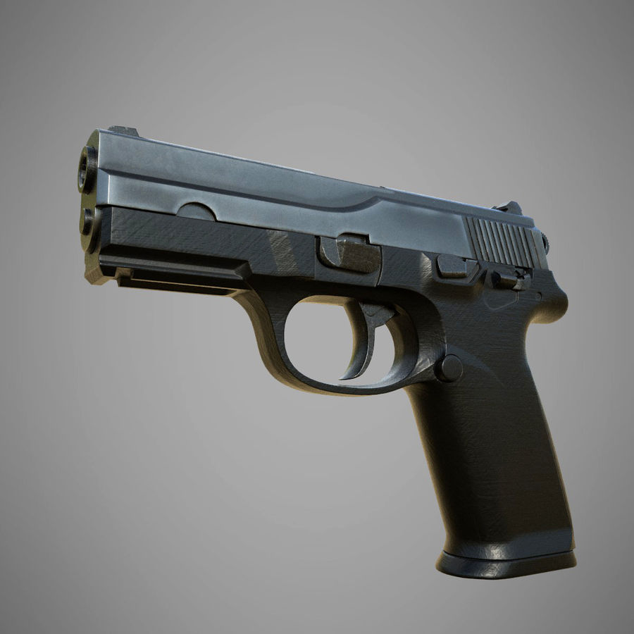 FN FNP9 royalty-free 3d model - Preview no. 1