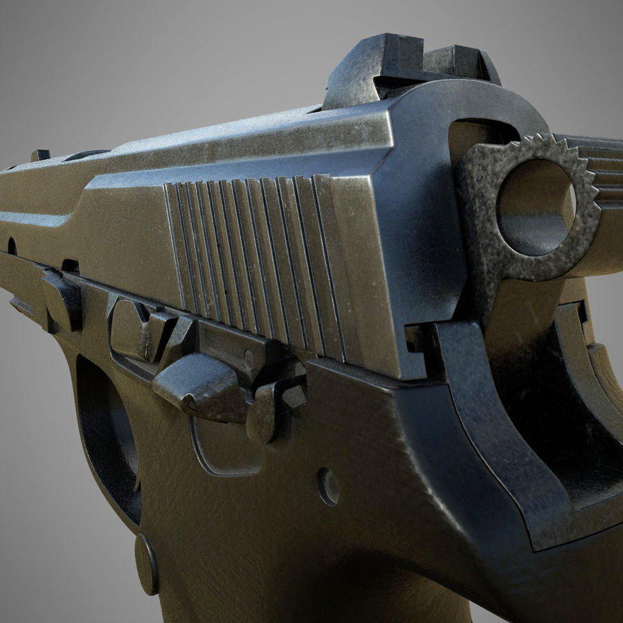 FN FNP9 royalty-free 3d model - Preview no. 4