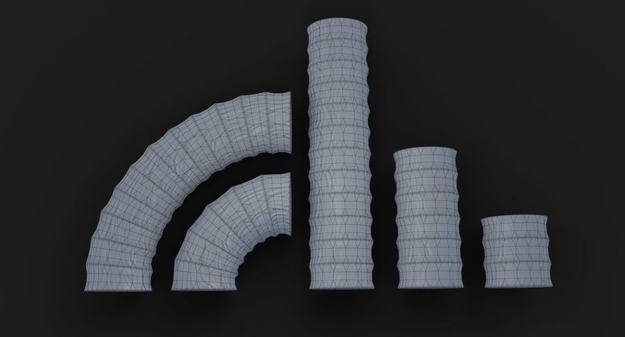 Condotto flessibile royalty-free 3d model - Preview no. 20