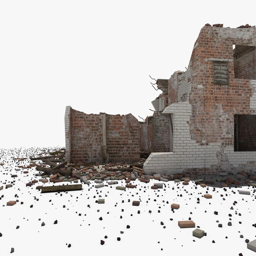 Edificio in rovina royalty-free 3d model - Preview no. 4