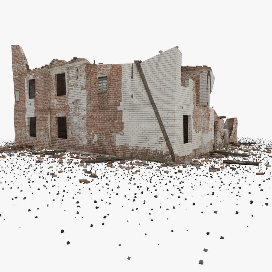 Edificio in rovina royalty-free 3d model - Preview no. 7