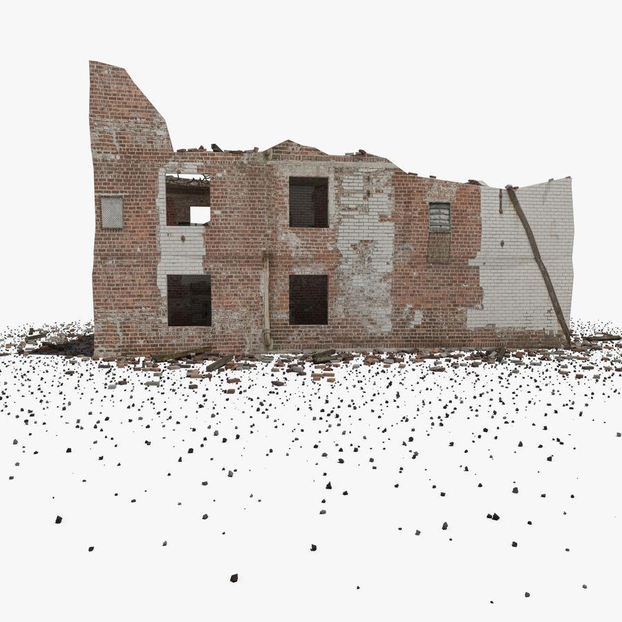 Edificio in rovina royalty-free 3d model - Preview no. 6
