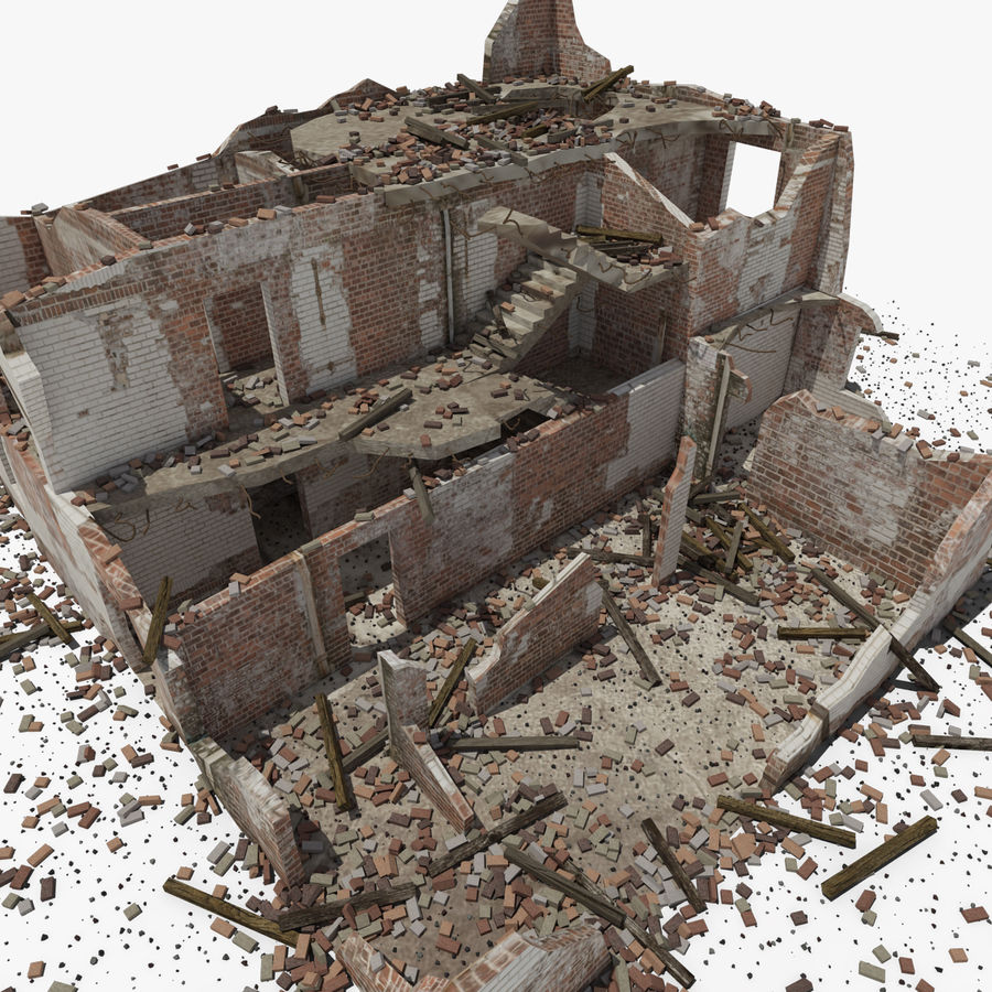 Edificio in rovina royalty-free 3d model - Preview no. 10
