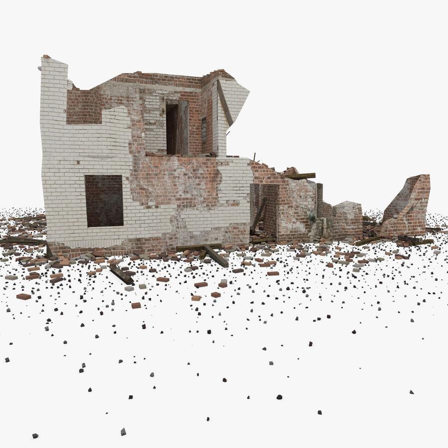 Edificio in rovina royalty-free 3d model - Preview no. 8