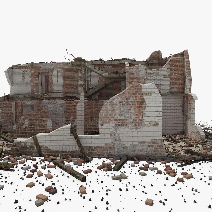 Edificio in rovina royalty-free 3d model - Preview no. 3