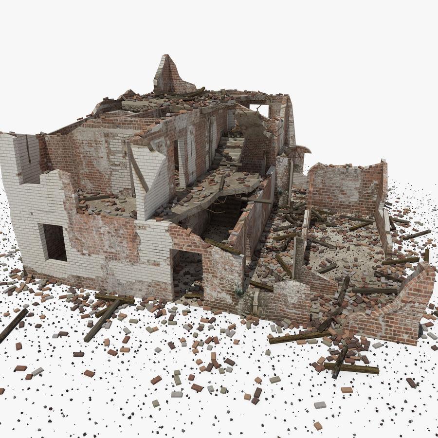 Edificio in rovina royalty-free 3d model - Preview no. 1