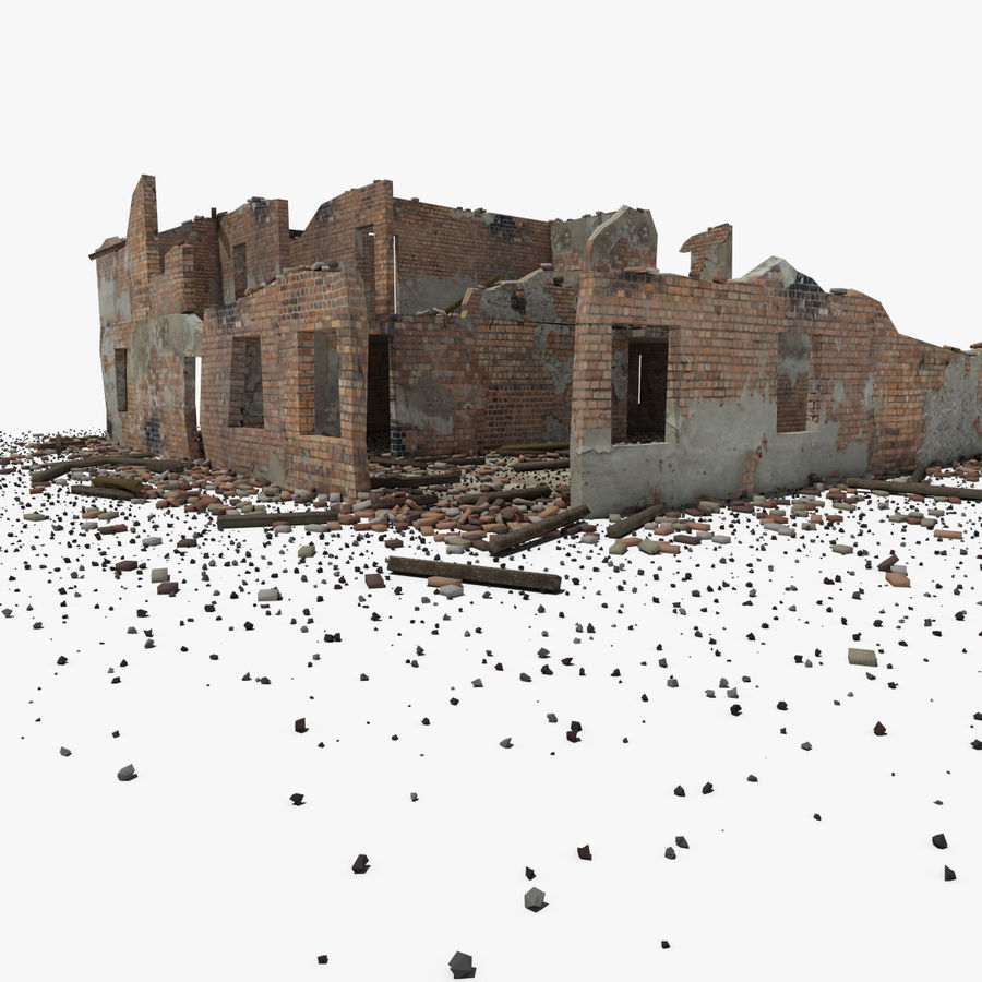 Ruined Building royalty-free 3d model - Preview no. 14