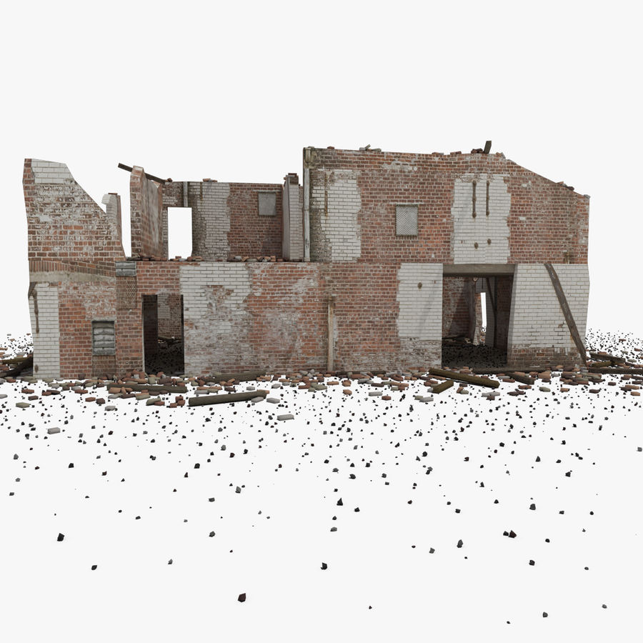 Ruined Building royalty-free 3d model - Preview no. 6