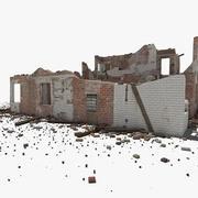Zniszczony budynek 3d model