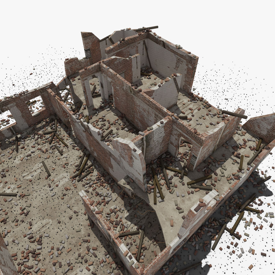 Ruined Building royalty-free 3d model - Preview no. 12