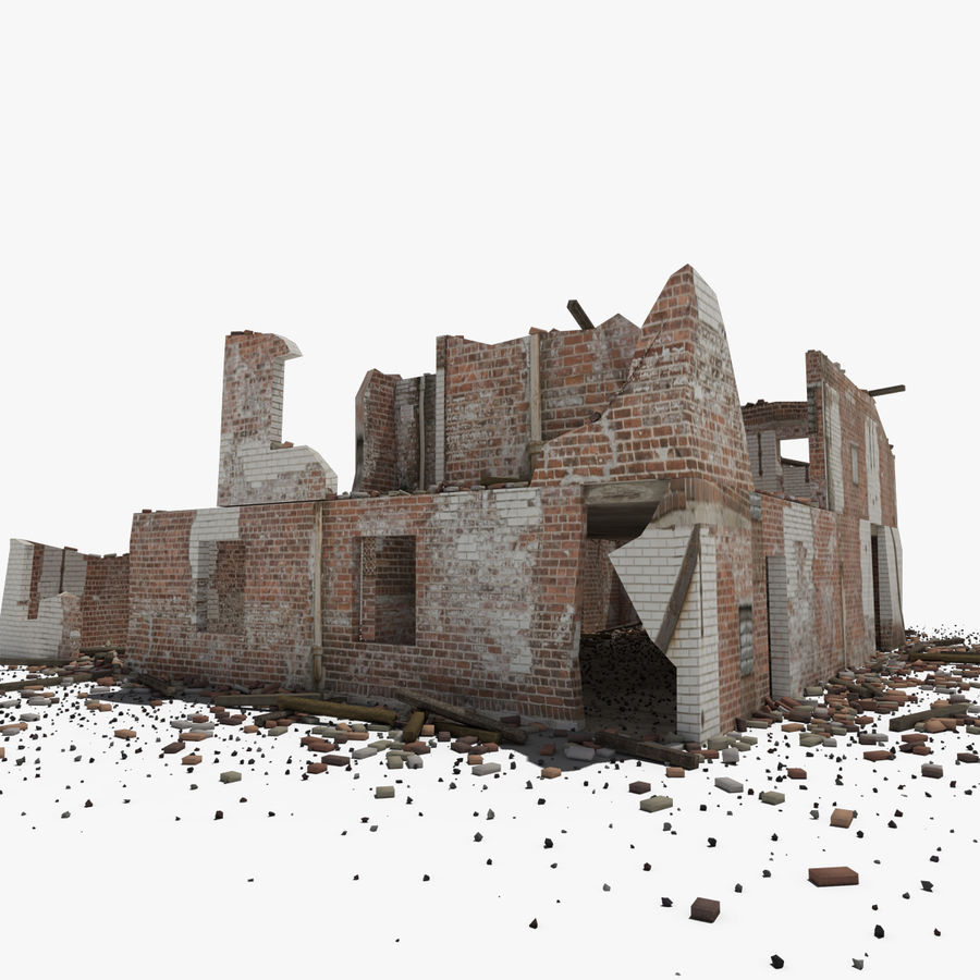 Ruined Building royalty-free 3d model - Preview no. 5