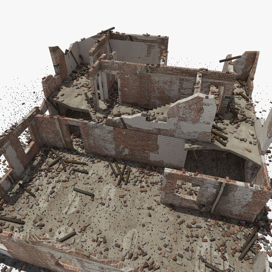 Ruined Building royalty-free 3d model - Preview no. 11