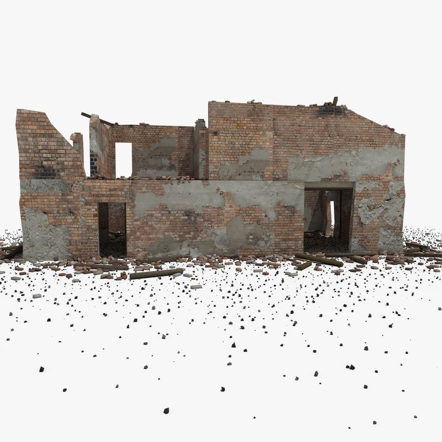 Ruined Building royalty-free 3d model - Preview no. 18