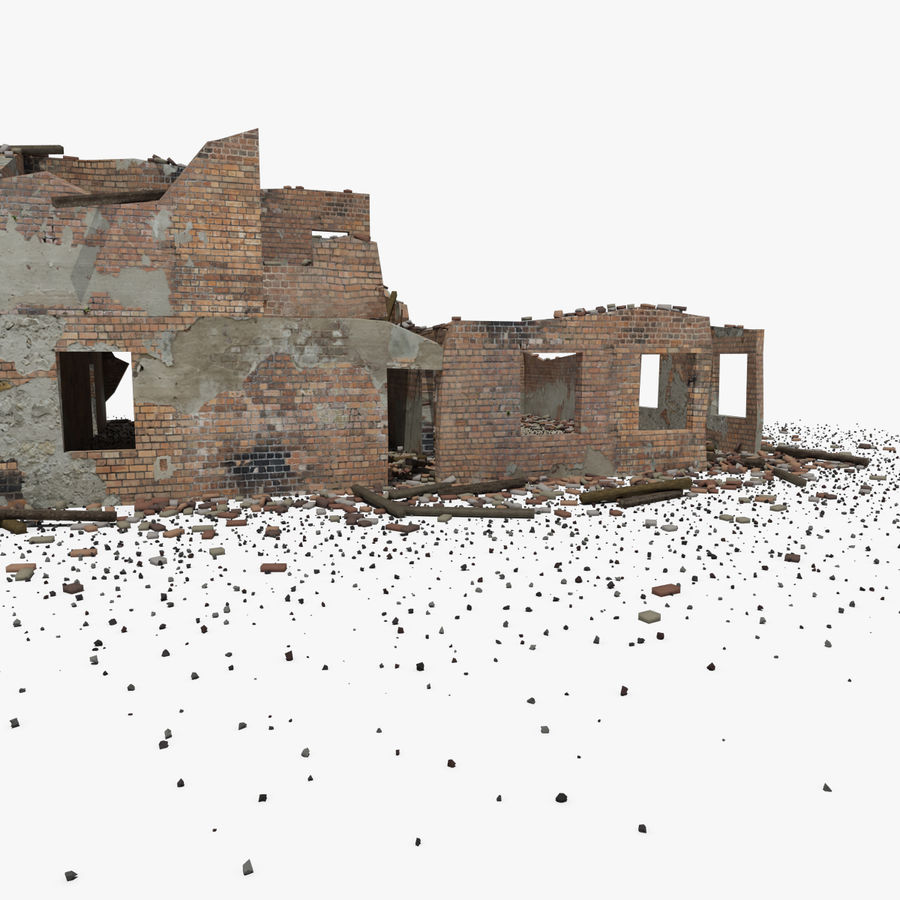 Ruined Building royalty-free 3d model - Preview no. 20