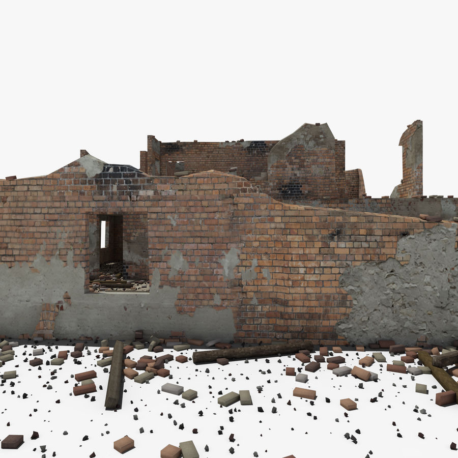 Ruined Building royalty-free 3d model - Preview no. 15