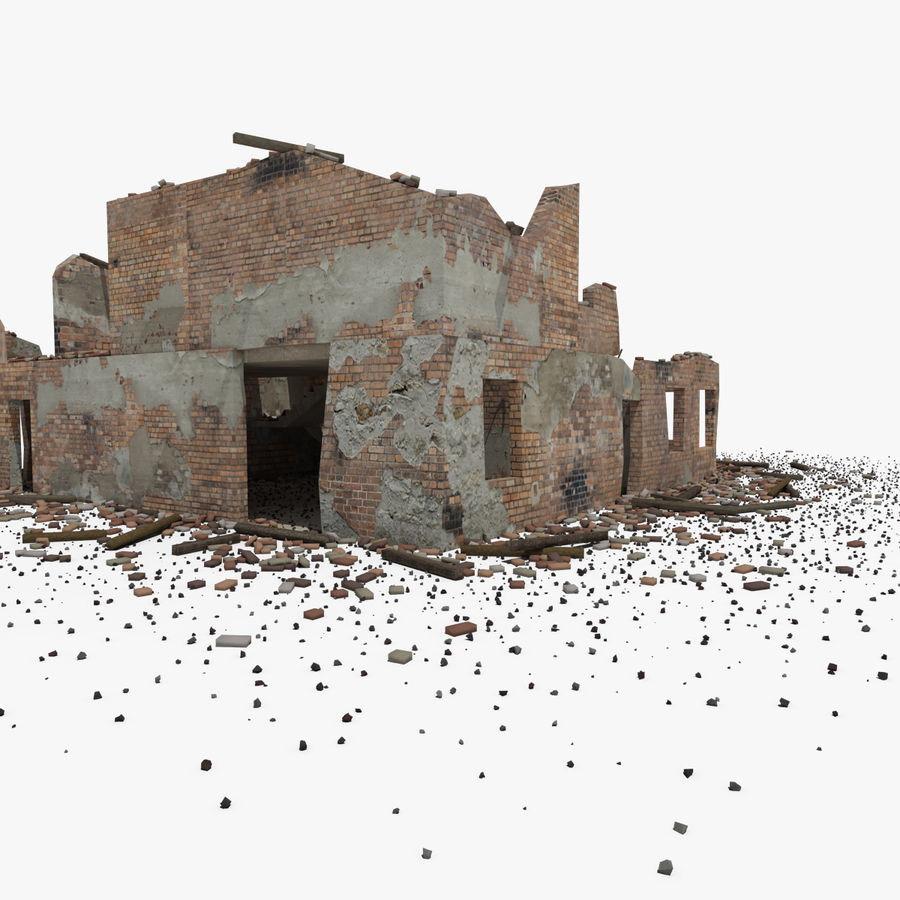 Ruined Building royalty-free 3d model - Preview no. 19