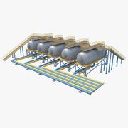 Silos przemysłowy 2 3d model