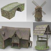 Medieval buildings 3d model