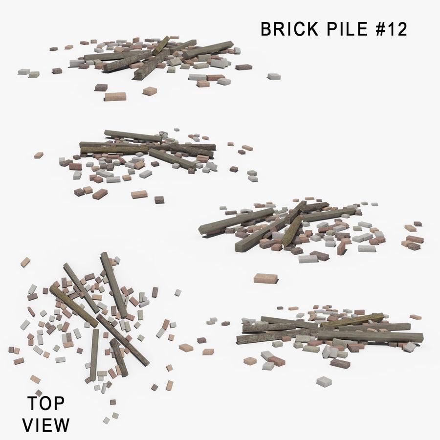 Pila de escombros, paquete de 12 royalty-free modelo 3d - Preview no. 15