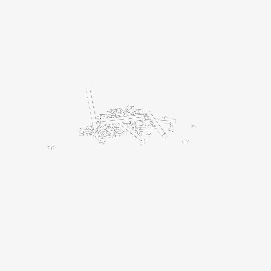 Pila de escombros, paquete de 12 royalty-free modelo 3d - Preview no. 93