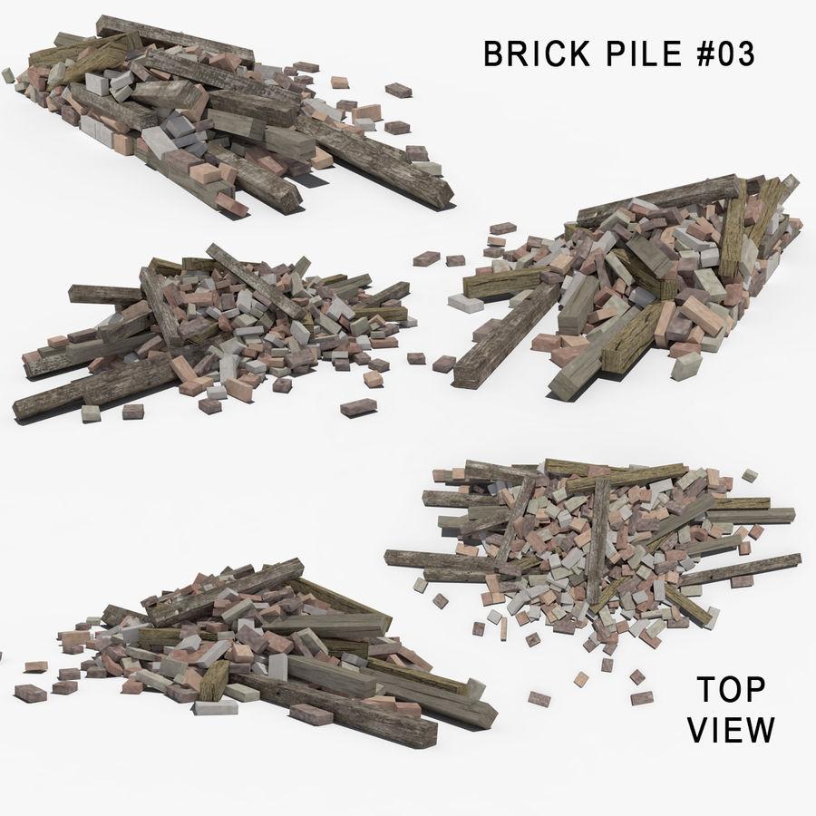 Pila de escombros, paquete de 12 royalty-free modelo 3d - Preview no. 78
