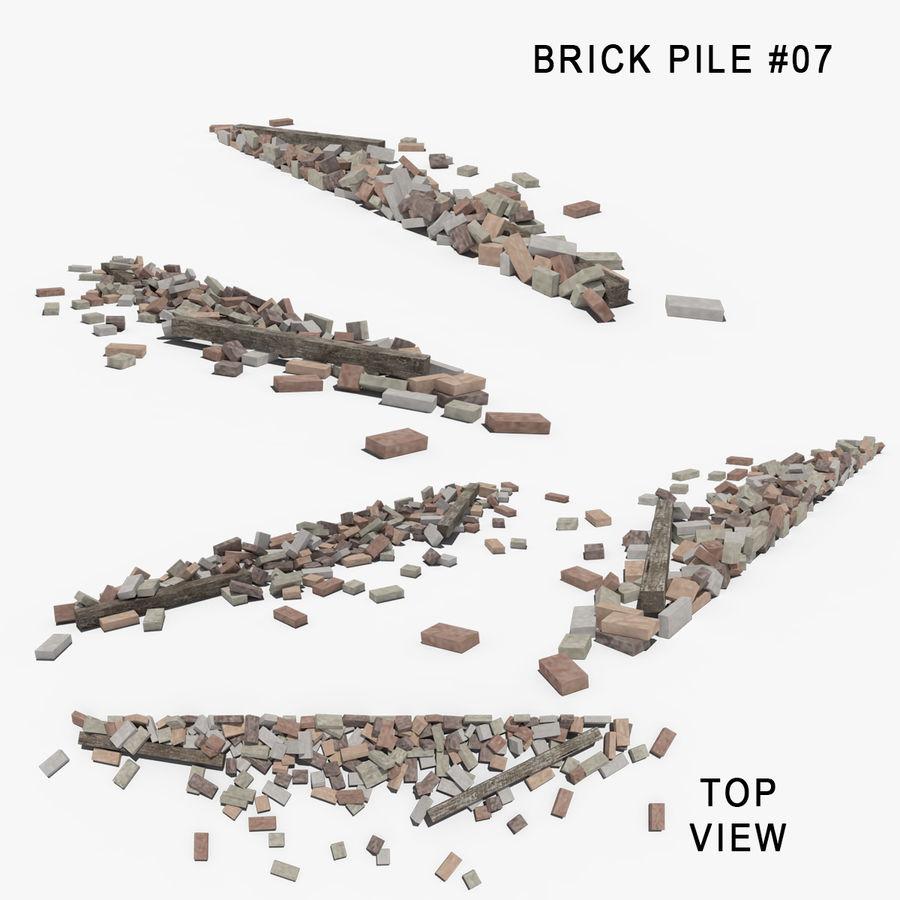 Pila de escombros, paquete de 12 royalty-free modelo 3d - Preview no. 82