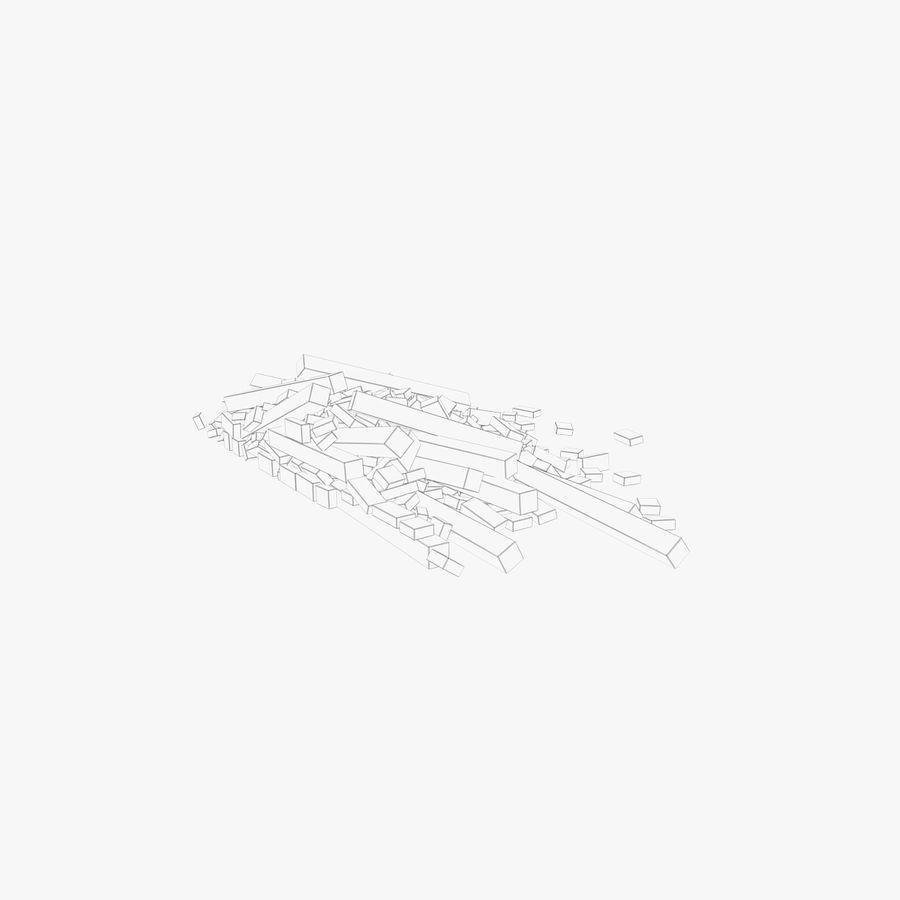 Pila de escombros, paquete de 12 royalty-free modelo 3d - Preview no. 104