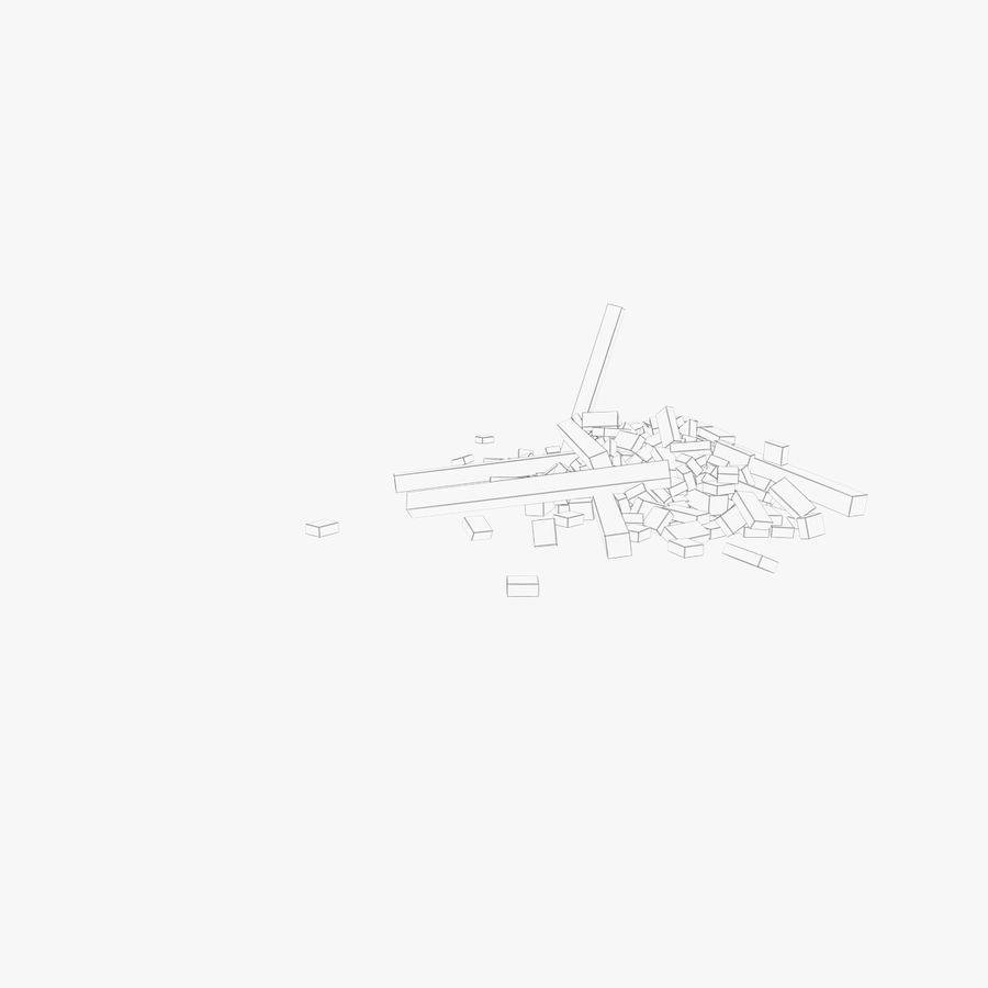 Pila de escombros, paquete de 12 royalty-free modelo 3d - Preview no. 22