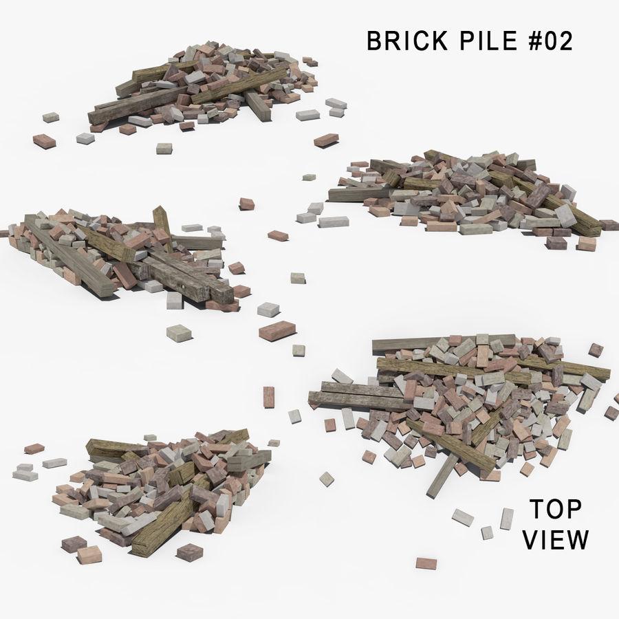 Pila de escombros, paquete de 12 royalty-free modelo 3d - Preview no. 5
