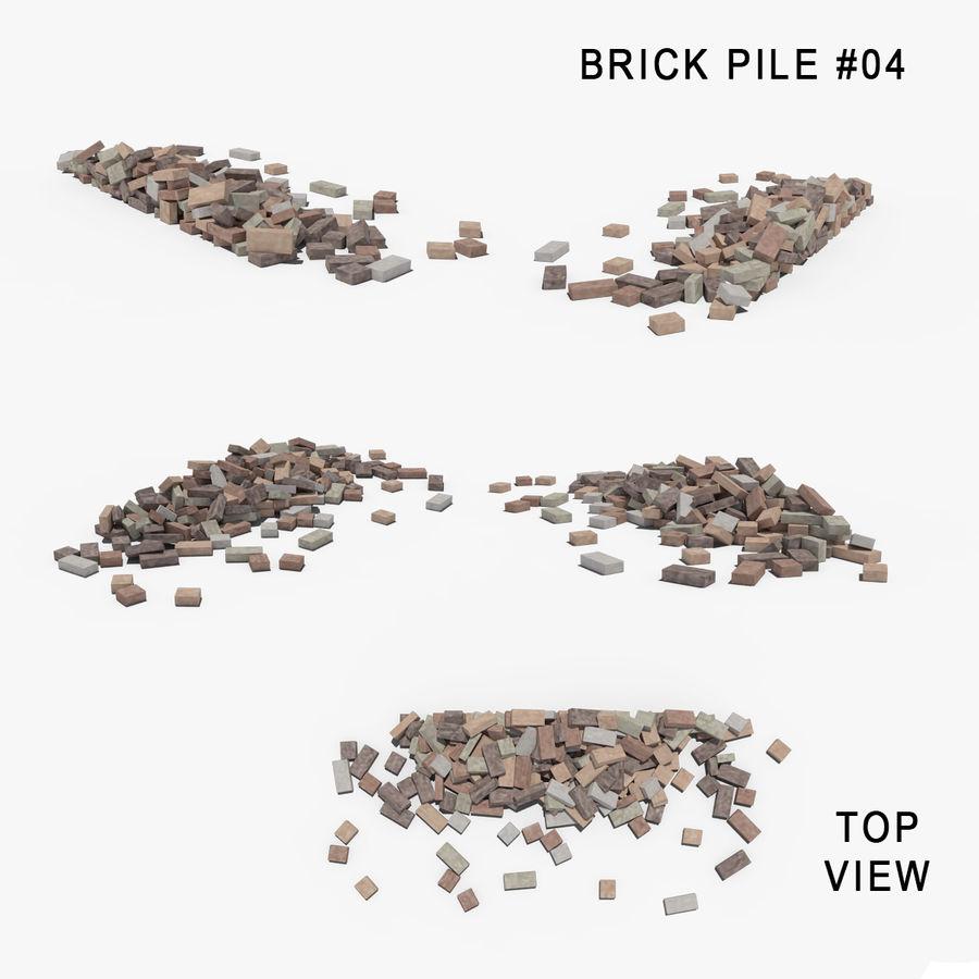 Pila de escombros, paquete de 12 royalty-free modelo 3d - Preview no. 79