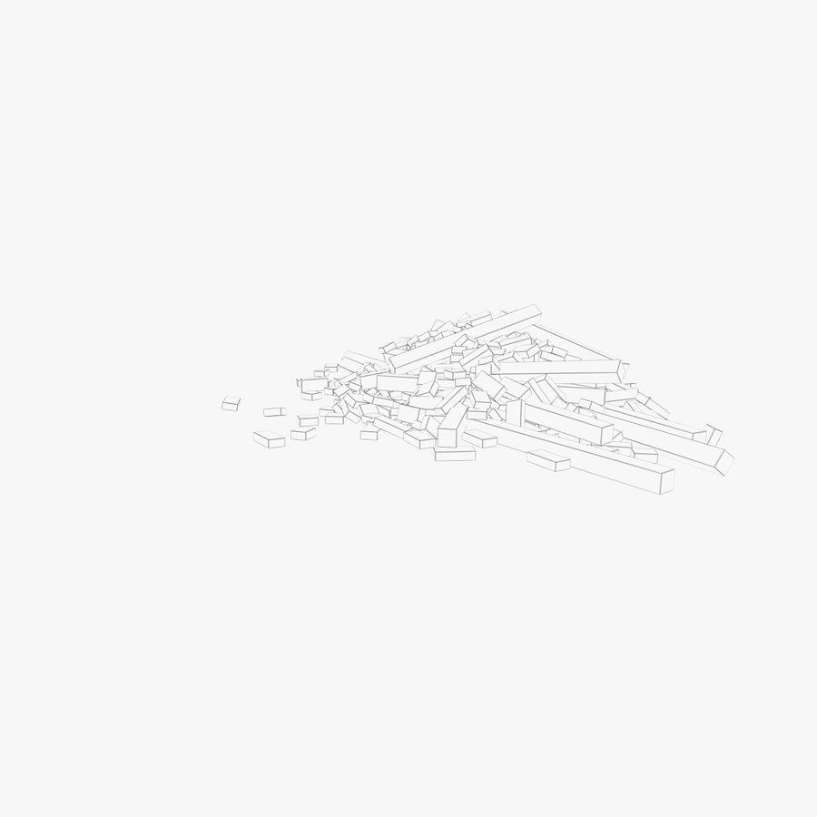 Pila de escombros, paquete de 12 royalty-free modelo 3d - Preview no. 102