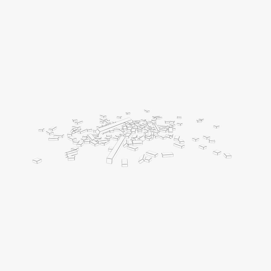 Pila de escombros, paquete de 12 royalty-free modelo 3d - Preview no. 133