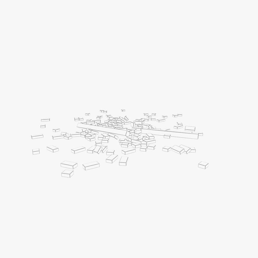 Pila de escombros, paquete de 12 royalty-free modelo 3d - Preview no. 64