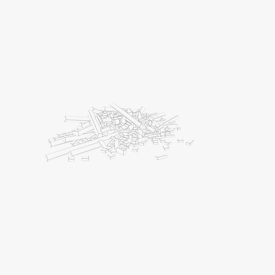 Pila de escombros, paquete de 12 royalty-free modelo 3d - Preview no. 29