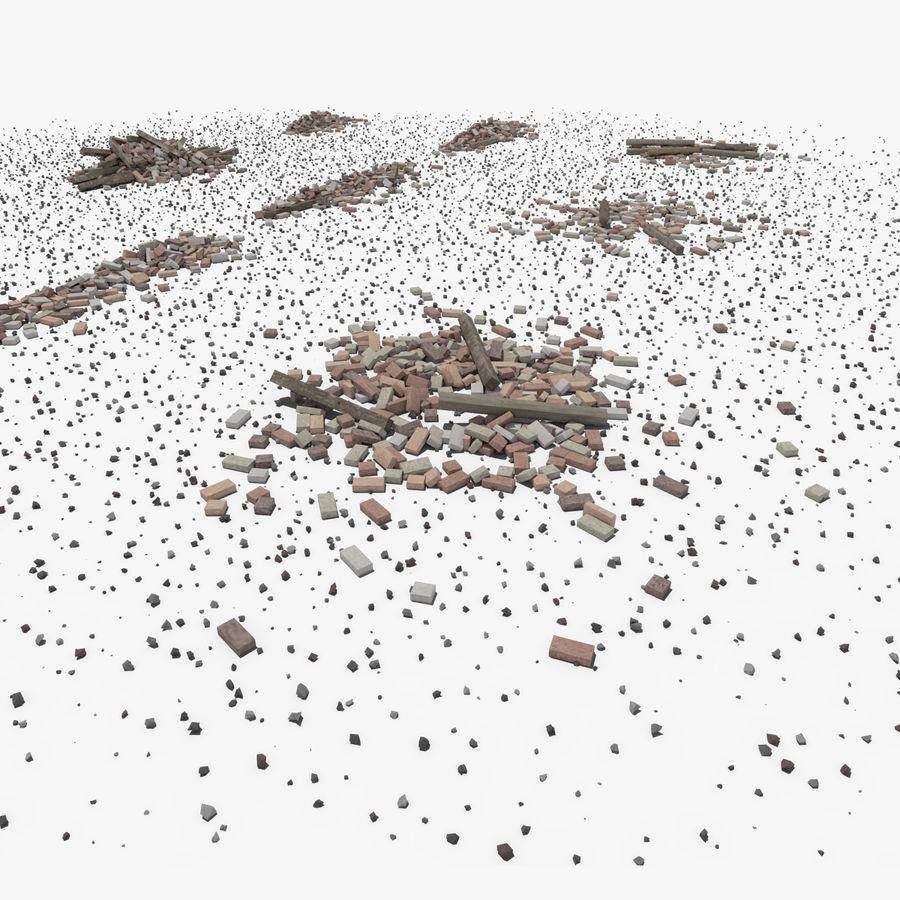 Pila de escombros, paquete de 12 royalty-free modelo 3d - Preview no. 75
