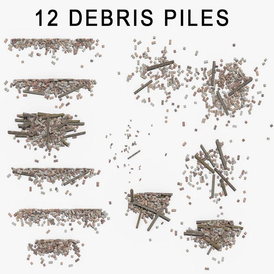 Pila de escombros, paquete de 12 royalty-free modelo 3d - Preview no. 2