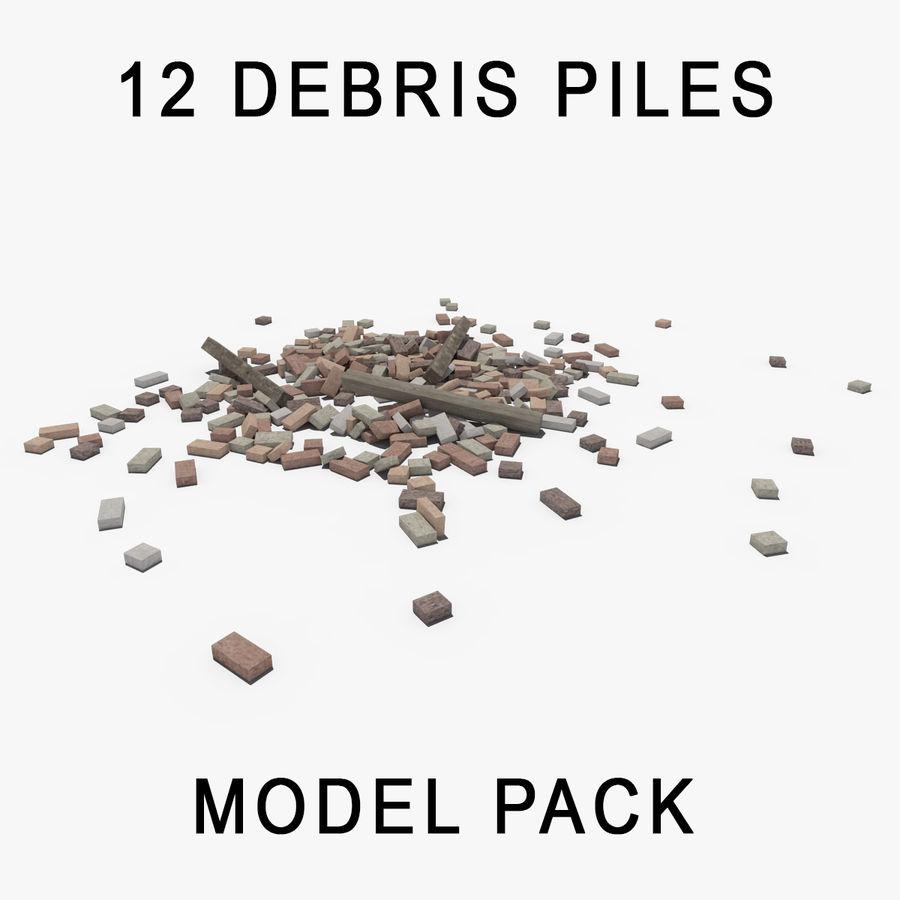 Pila de escombros, paquete de 12 royalty-free modelo 3d - Preview no. 73