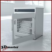 Cabinet chauffant de couverture 3d model
