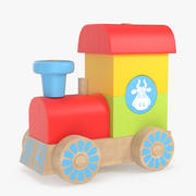 Costruttore di treni giocattolo 3d model