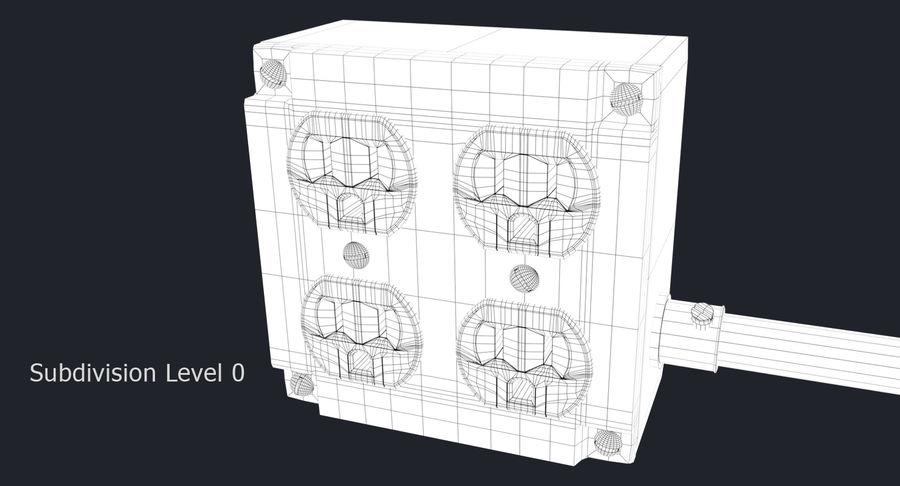 Elektryczna puszka połączeniowa z kablem zasilającym royalty-free 3d model - Preview no. 11