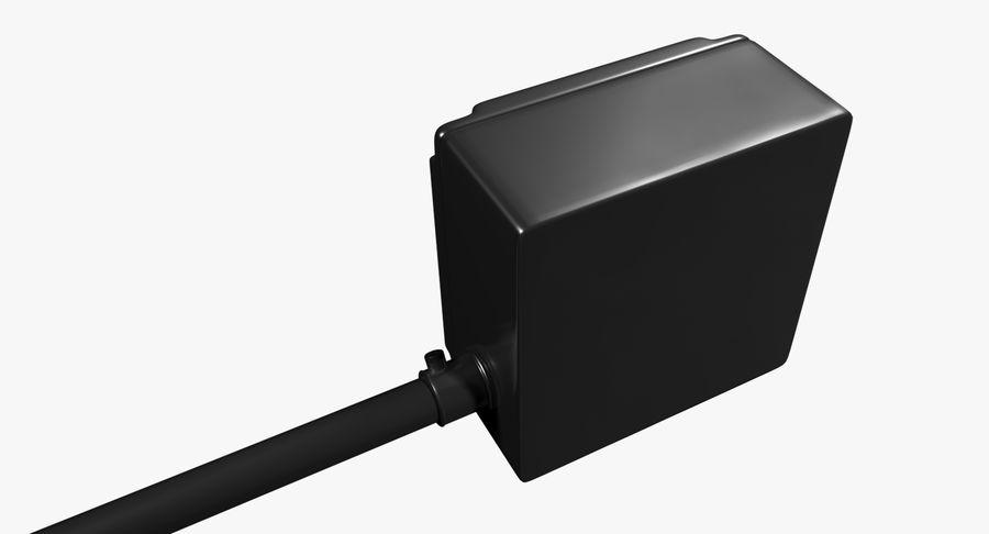 Elektryczna puszka połączeniowa z kablem zasilającym royalty-free 3d model - Preview no. 4