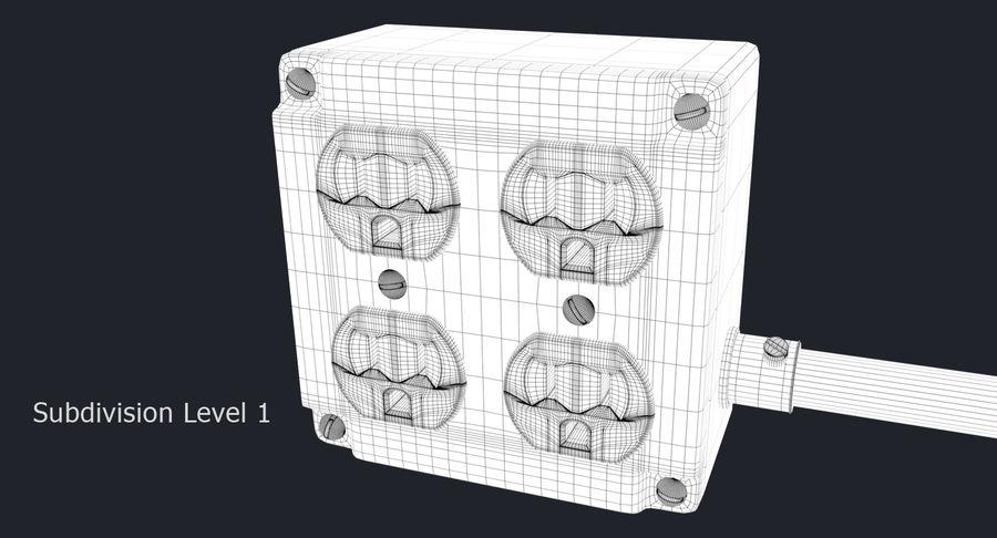 Elektryczna puszka połączeniowa z kablem zasilającym royalty-free 3d model - Preview no. 12