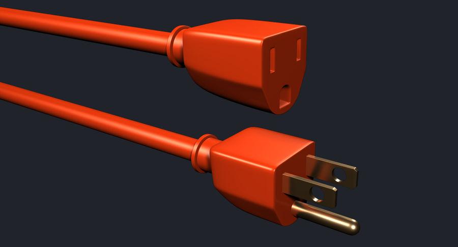 Elektryczna puszka połączeniowa z kablem zasilającym royalty-free 3d model - Preview no. 3