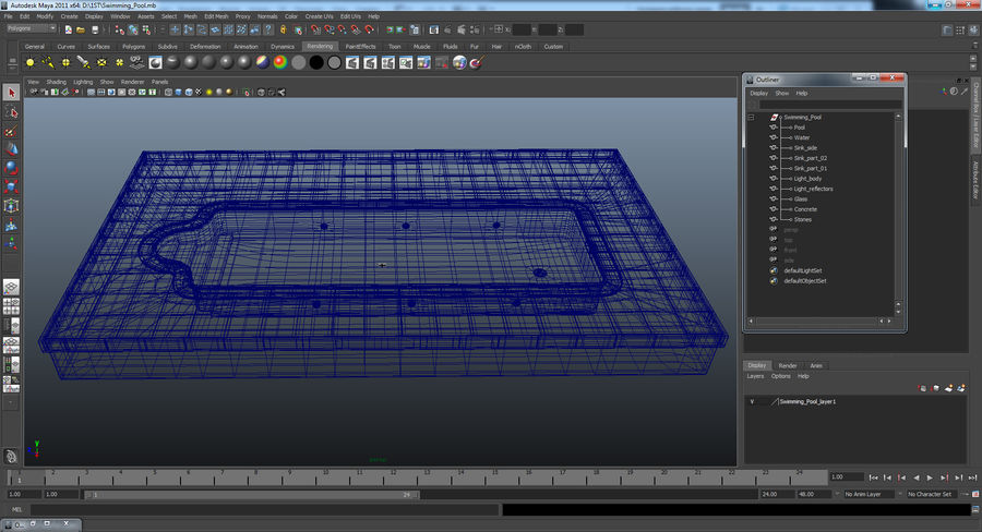 Swimming Pool royalty-free 3d model - Preview no. 13
