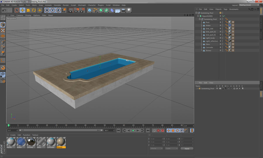 Swimming Pool royalty-free 3d model - Preview no. 12