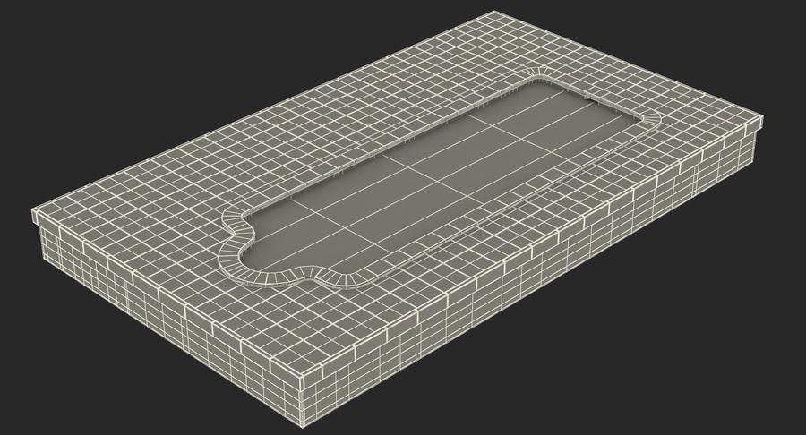 Swimming Pool royalty-free 3d model - Preview no. 14