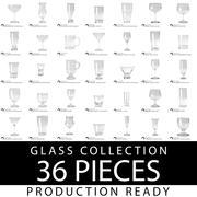 Glassatz / 36 Teile 3d model