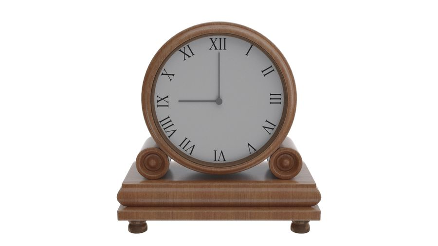 Reloj de chimenea royalty-free modelo 3d - Preview no. 2